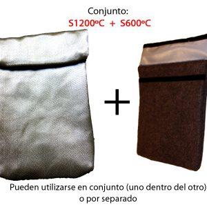 Combinaison des sacs de protection non feu S600°C + S1200°C