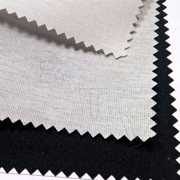 Segre plain fabric: optical white and natural white
