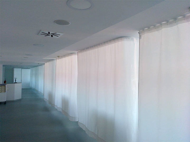 Anti-bacterial curtains