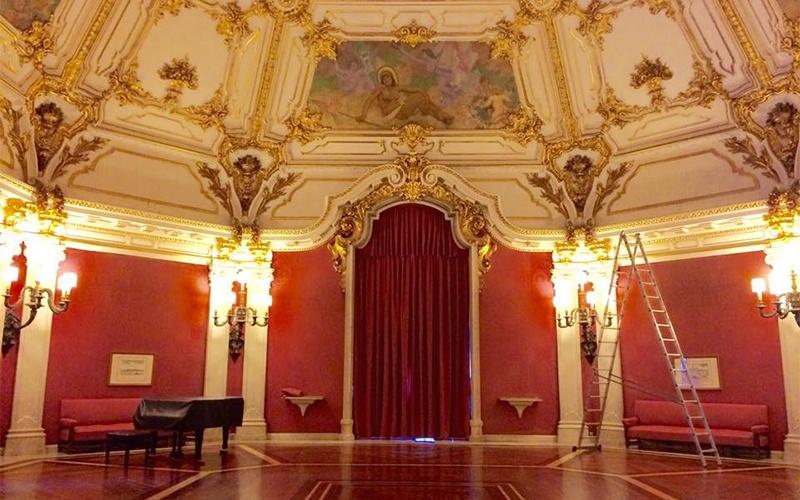 Cortinas del Consulado General de Portugal en Sevilla