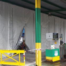 Separación de zonas de trabajo en Gasolineras