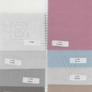 Voile fabric flat colors