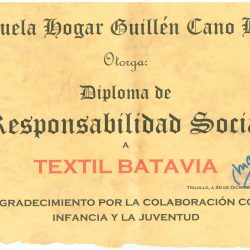 TEXTIL BATAVIA es premiada por su Responsabilidad Social