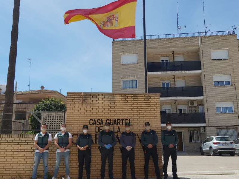 Thanks from the Guardia Civil of Bétera