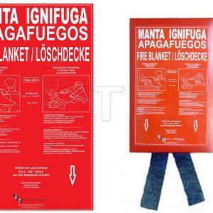 Manta ignífuga apagafuegos